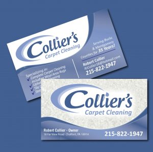 Collier's Carpet Cleaning Business Cards