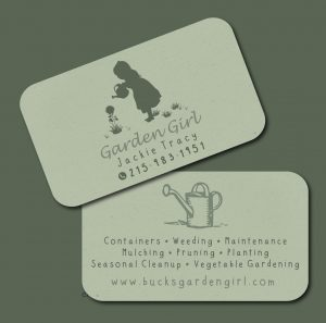 Garden Girl Business Cards