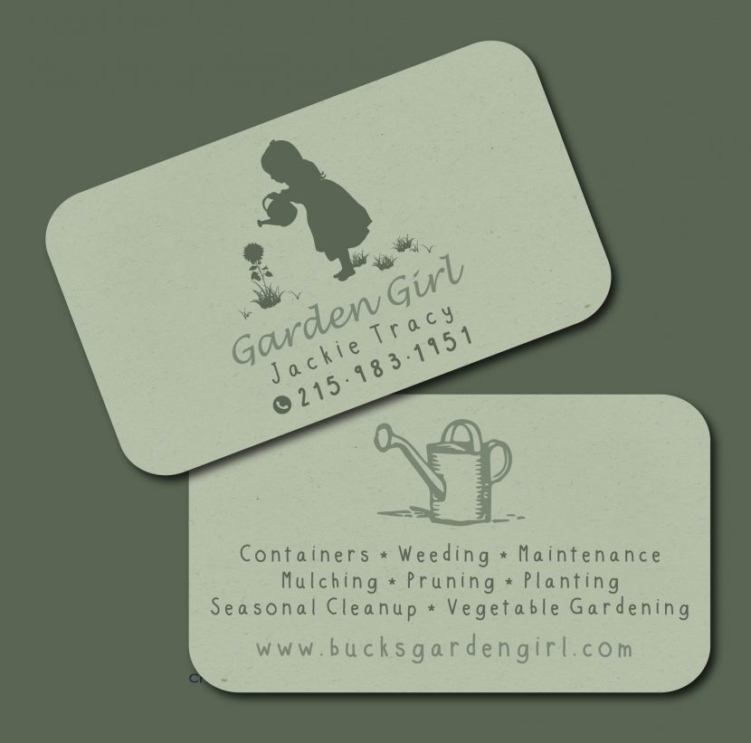 Garden Girl Business Cards