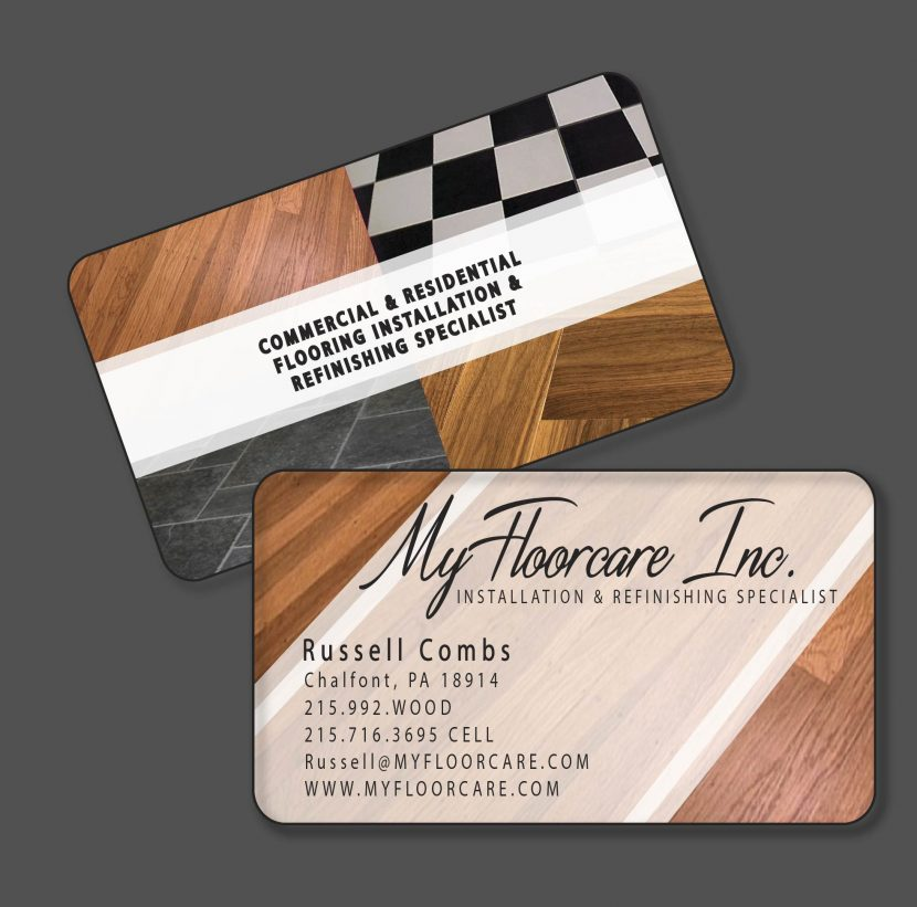 my floor care - Flooring Business Cards