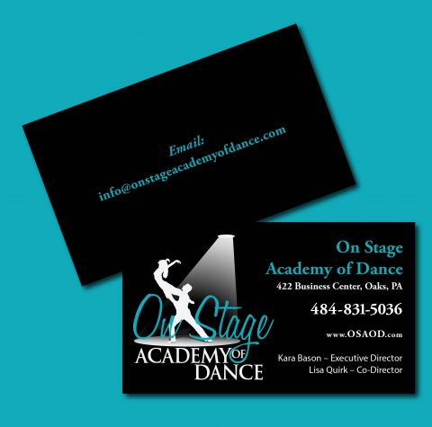 On Stage Academy of Dance Business Cards