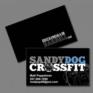 Sandy Dog Crossfit Cards