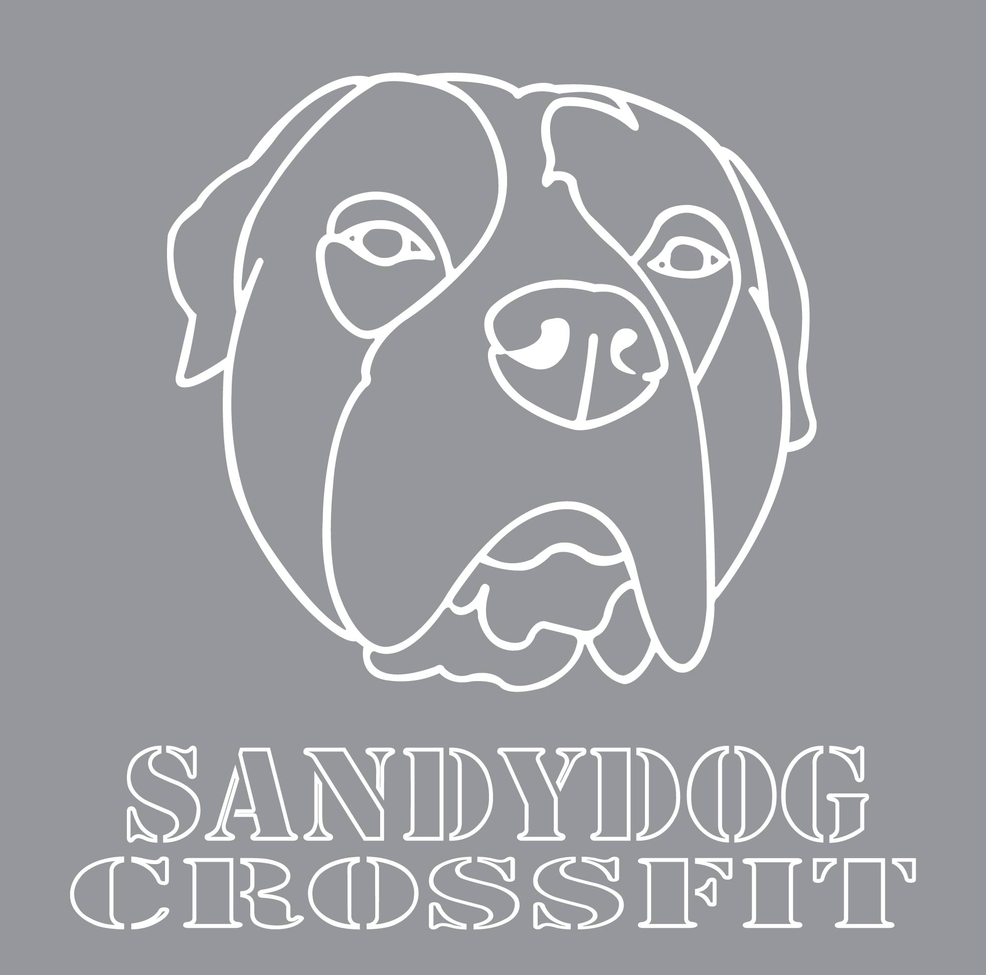 Sandy Dog Crossfit print